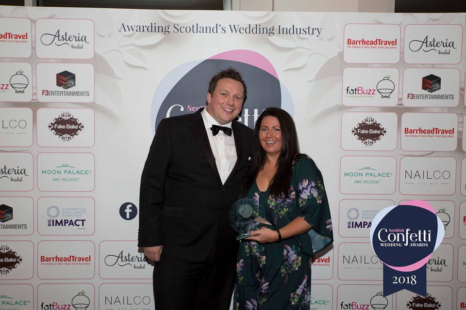 Bespoke at the Scottish Confetti Awards 2018