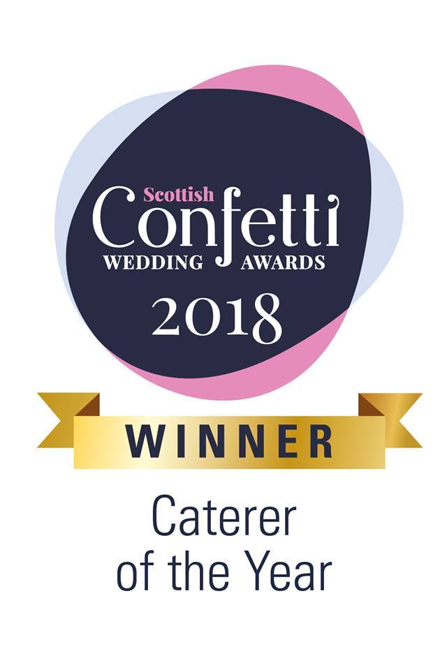 Scottish Confetti Wedding Awards Caterer of the Year 2018