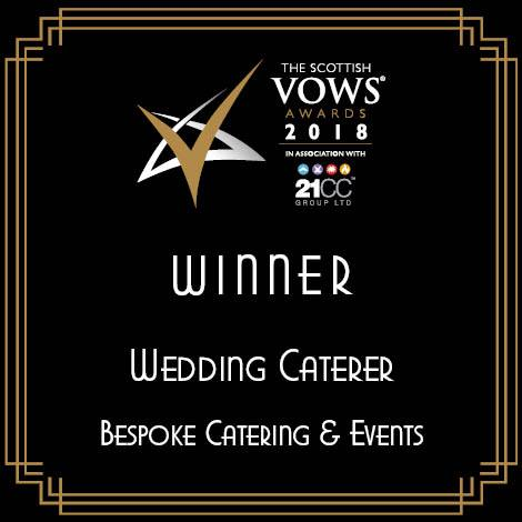 Scottish Vows awards 2018 Wedding Caterer of the year